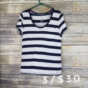 Tommy Hilfiger large shirt top striped blue white